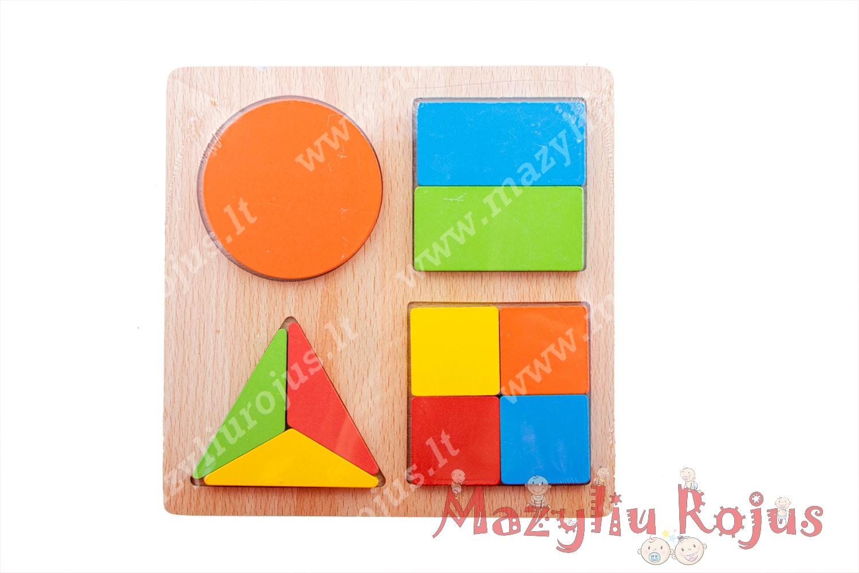 Geometrinių figūrų dėlionė