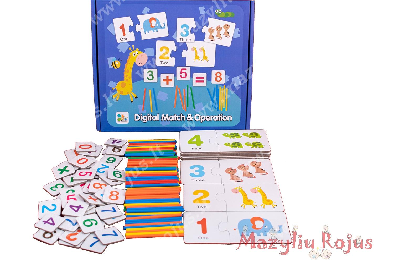 """Mokomasis žaidimas """"Mokausi skaičiuoti"""""""