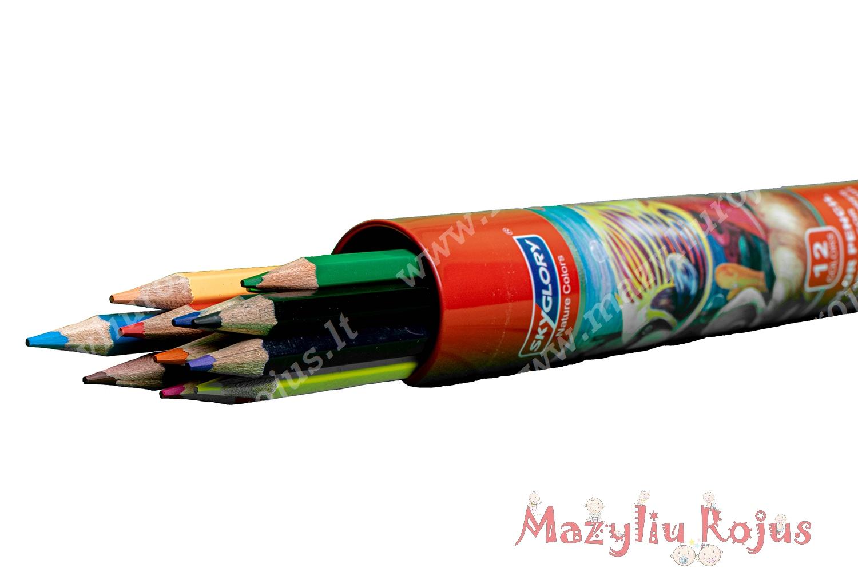 Pieštukai, 12 spalvų